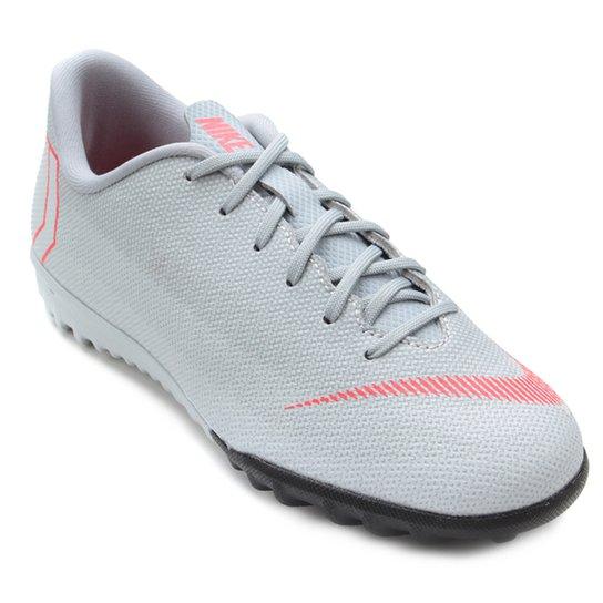 Chuteira Society Infantil Nike Mercurial Vapor 12 Academy GS TF - Cinza fe8a4150f2c8a
