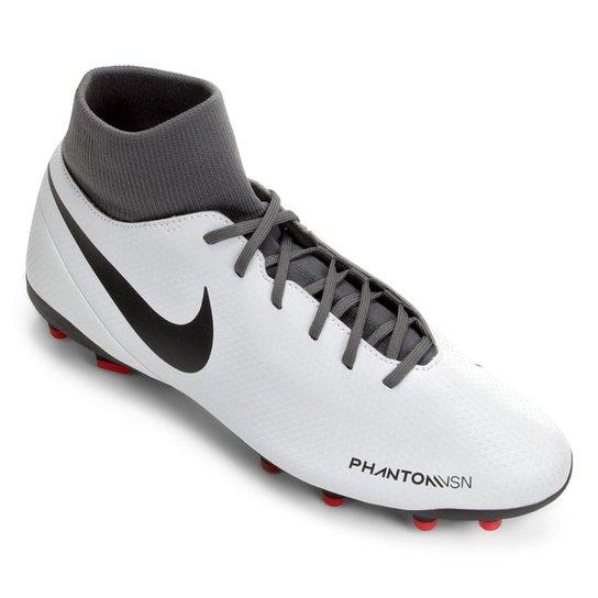 e65358270d Chuteira Campo Nike Phantom Vision Club FG - Cinza