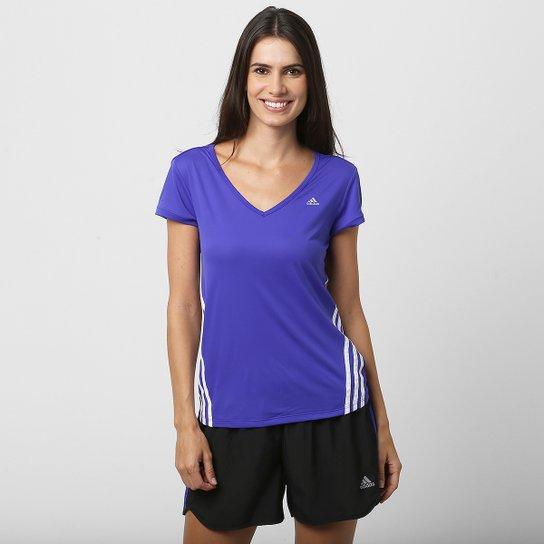 Camiseta Adidas ESS Clima 3S LW Feminina - Azul Royal - Compre Agora ... cb65d8a5b1348