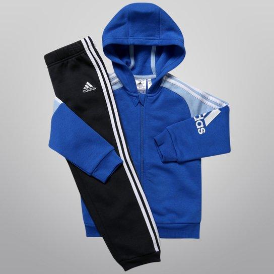 Agasalho Adidas Corp c  Capuz Infantil - Compre Agora  4c769a2722b91