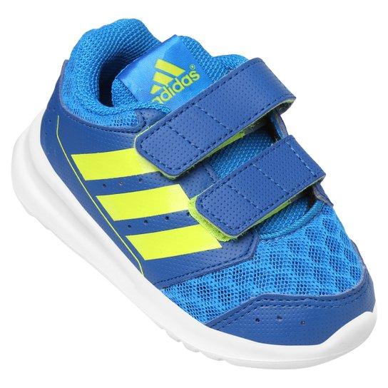 3feba63d007 Tênis Adidas Lk Sport 2 Cf I Text Infantil - Azul+Verde Limão