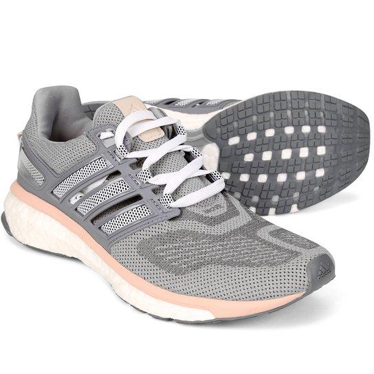421e89a3f0 Tênis Adidas Energy Boost 3 Feminino - Cinza e Salmão - Compre Agora ...