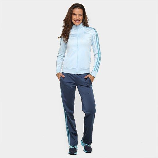 88bfd2625ea Agasalho Adidas W Kn Ts 1 Feminino - Azul Claro+Marinho