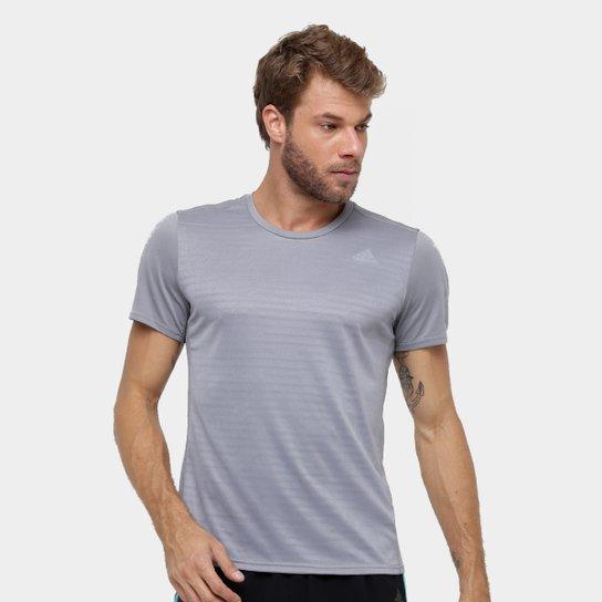 b7069a817ec Camiseta Adidas Response Masculina - Cinza - Compre Agora