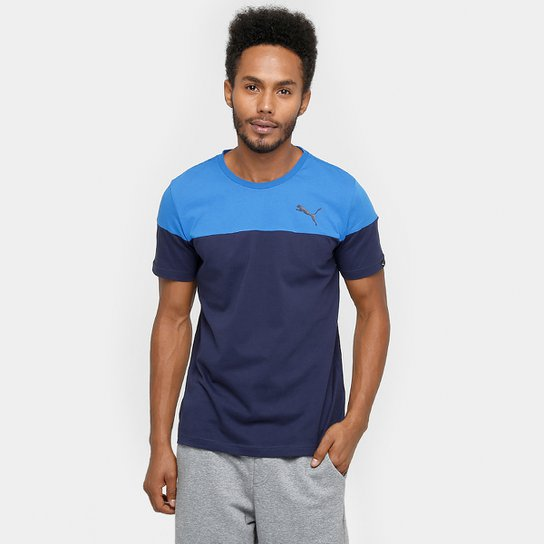 490099c1b Camiseta Puma Alpha Block - Azul Royal+Azul