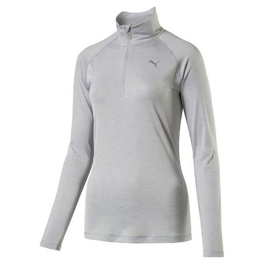 Blusa Puma Core-Run L S HZ Top Feminina - Cinza - Compre Agora ... 1798f673c7e8c