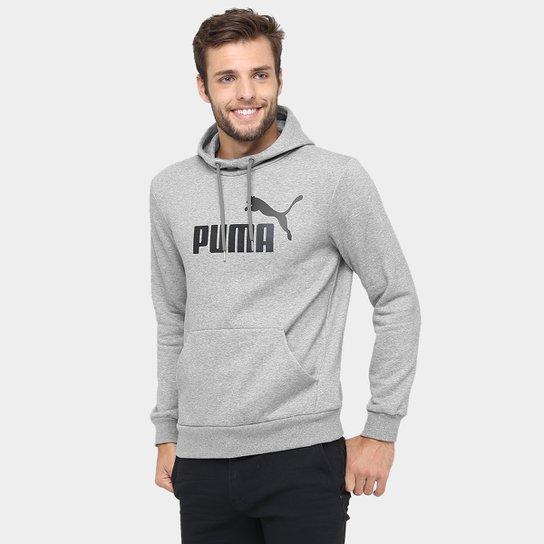 62f0af5499342 Moletom Puma Ess No.1 Hoody Fl - Cinza - Compre Agora