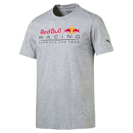 Camiseta Puma Logo Red Bull Racing Masculina - Cinza - Compre Agora ... ead39f0ce2f