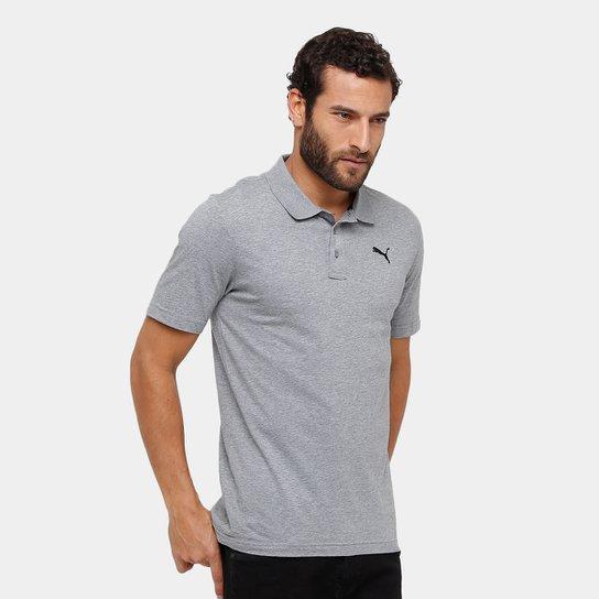 eea4c0ab15 Camisa Polo Puma Ess Jersey Masculina - Cinza - Compre Agora
