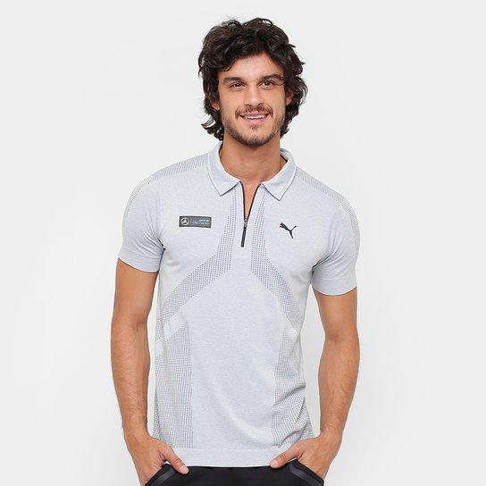 64550a262a Camisa Polo Puma Mercedes Evoknite Masculina - Cinza - Compre Agora ...