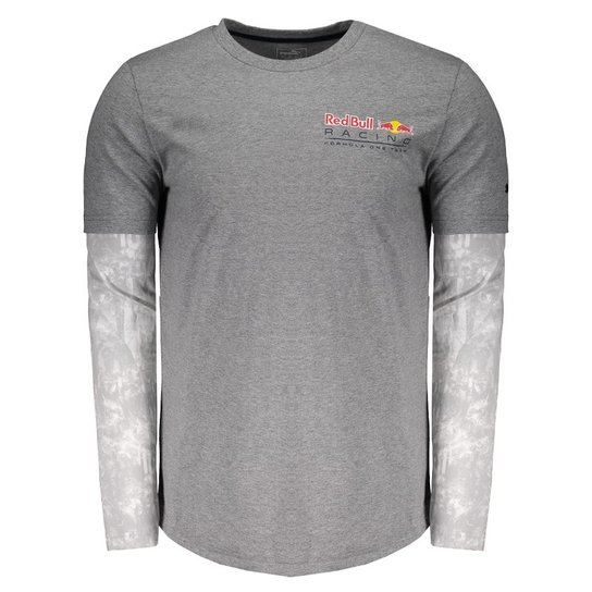 Camiseta Puma Red Bull Racing F1 Team Manga Longa - Cinza - Compre ... 3bcde1ca462