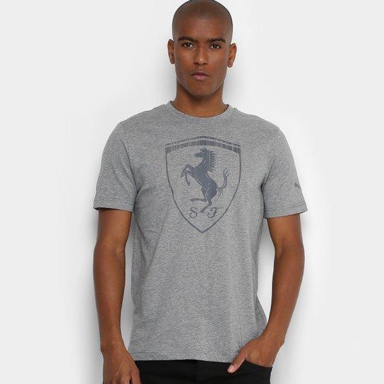 Camiseta Puma Ferrari Big Shield Masculina - Compre Agora  5d2538bd214