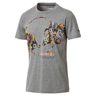 502d46bb82693 Camiseta Puma Red Bull Racing Double Bull Tee Masculina