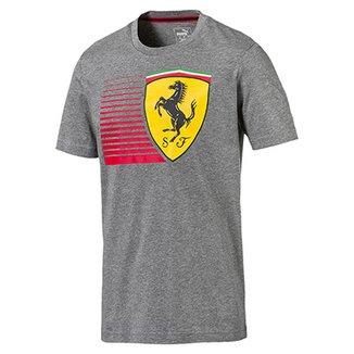 6ac2f59705 Camiseta Puma Scuderia Ferrari Big Shield Tee Masculina