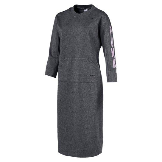 Vestido Puma Fusion Dress - Cinza - Compre Agora  bed1d551ad0