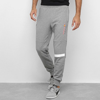 Calça Moletom Puma Red Bull Logo Sweat Pants Masculina