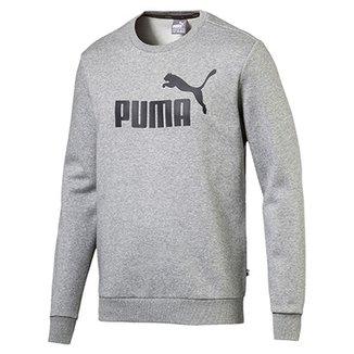 bfb23be53f Moletom Puma Ess Crew Sweat Fl Big Logo Masculino