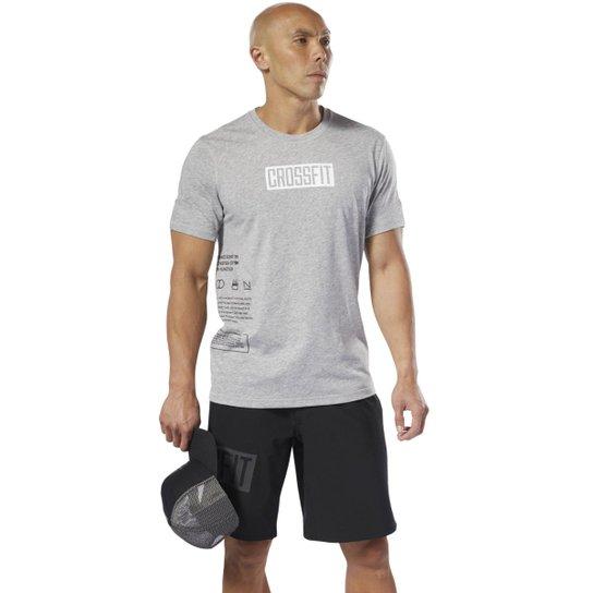 ed641d072 Camiseta Reebok Crossfit Move Masculina - Cinza - Compre Agora ...