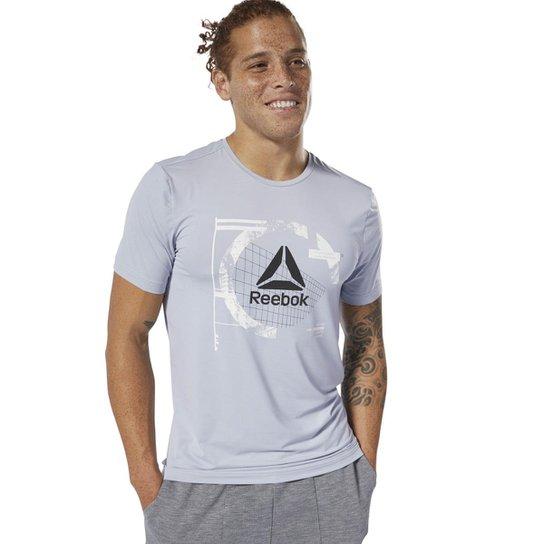 066ead6aaea Camiseta Reebok Wor Activchill Grap Masculina - Cinza - Compre Agora ...