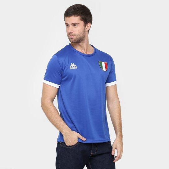 1e45b794c0dc2 Camiseta Itália Kappa Masculina - Azul Royal - Compre Agora