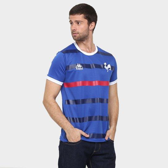 Camiseta França Kappa Masculina - Compre Agora   Netshoes 65b1652fb5