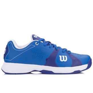 b69fb09b1901c Tênis Wilson Rush Sport Azul e Branco-44