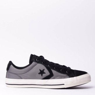 1fa585296 Tênis Converse Star Player Aluminio Preto CO01740
