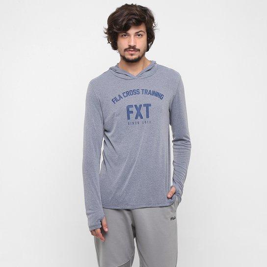 Camiseta Fila Hood FXT Manga Longa Masculina - Cinza - Compre Agora ... 6fbda5ad5d4