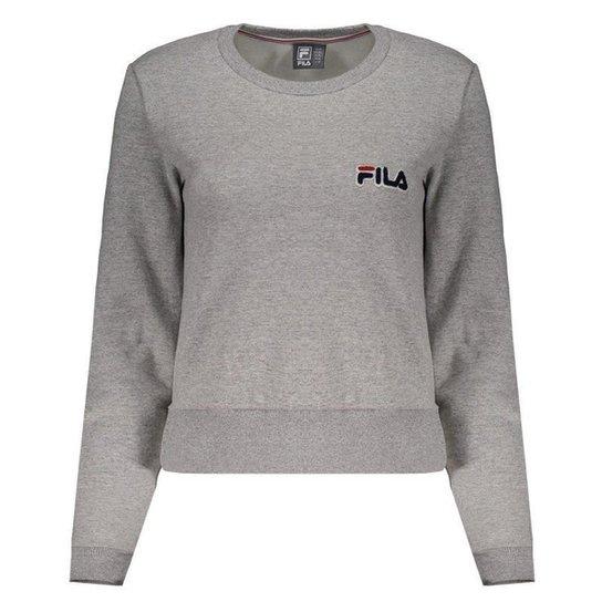 Moletom Fila College Feminino - Cinza - Compre Agora  f371994dcc6fe