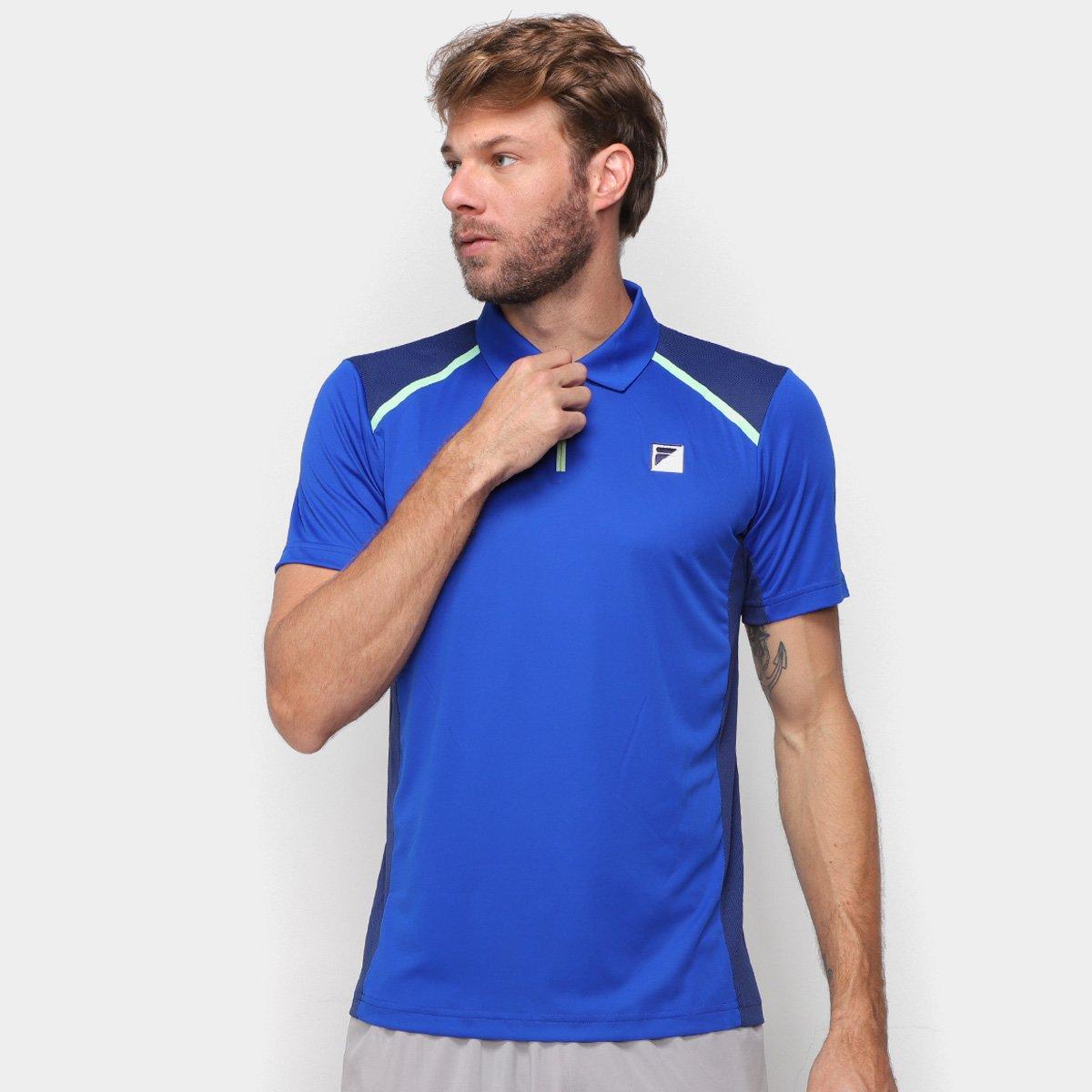 Camisa Polo Fila Fusion Plaid Masculina