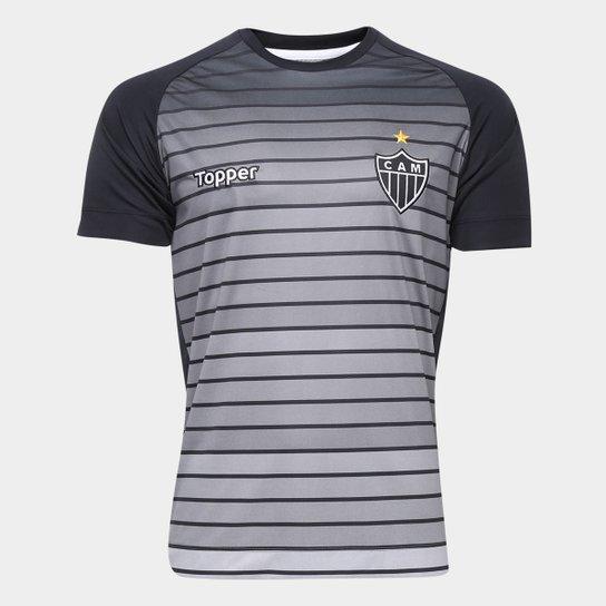61899a3d45 Camisa Topper Atlético Mineiro Aquecimento 17/18 Masculina - Cinza ...