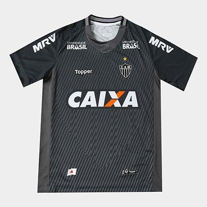 Camisa de Goleiro Atlético-MG I 2018 Infantil s/n° Torcedor Topper