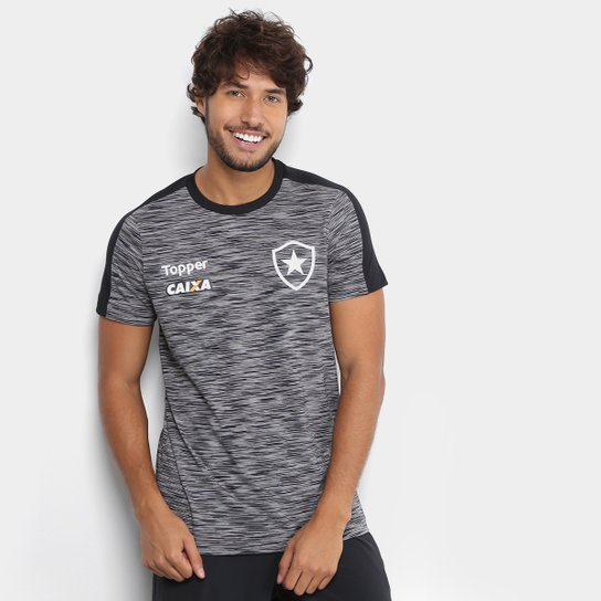 Camisa Botafogo Concentração Atleta Topper Masculina - Cinza ... ec48744e4f71d