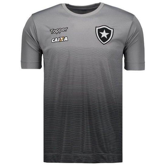40c0c2d8f3632 Camisa Topper Botafogo Concentração Comissão Técnica 2017 Masculina - Cinza