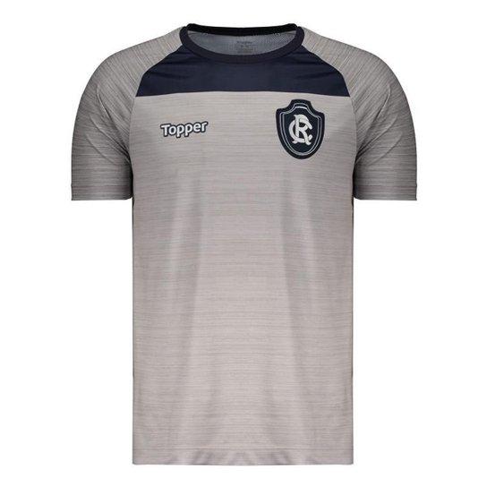 93449b2297 Camisa Topper Remo Treino Comissão Técnica 2018 Masculina - Cinza ...