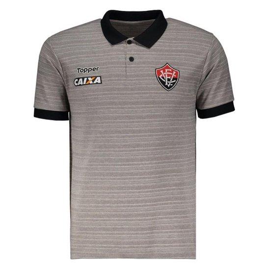 Regata Machão Topper Botafogo Treino 2017 Atleta - Cinza - Compre ... f98b3ec8532ca