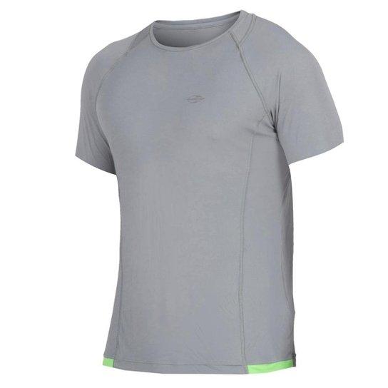 Camiseta Mormaii Manga Curta Masculino UV Dry Moving - Cinza ... ff34a393673