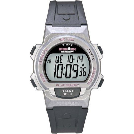 9640878b4bb Relógio Timex Feminino Ironman 10-Lap TI5K176 N Chumbo TI5K176 N - Cinza