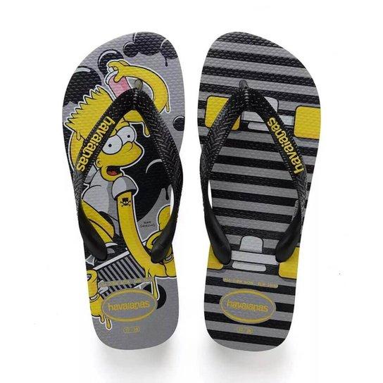 b21e4bd10716 Chinelo Havaianas Estampado Os Simpsons - Cinza - Compre Agora ...