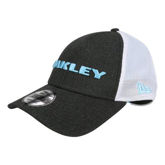 Boné Oakley Aba Curva Mod Heather New Era Masculino - Cinza e Branco ... 5d812e7ccbb