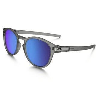 Óculos Oakley Latch Matte Gray Ink Sapphire Iridium Polarized 870e0382395