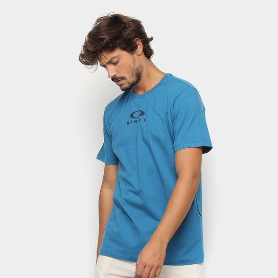 9329d4a4b3052 Camiseta Oakley Estampa Logo Bark New Masculina - Azul Royal ...