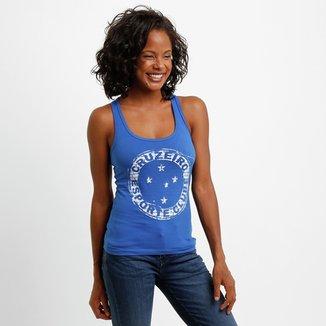Camiseta Regata Cruzeiro Feminina 84e77d7a5abd8