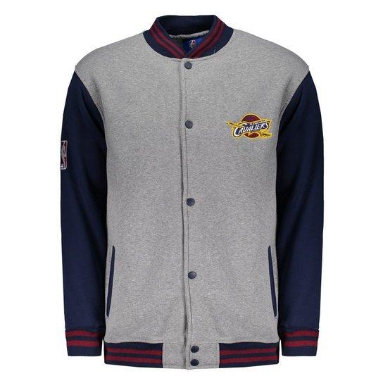 Jaqueta College NBA Cleveland Cavaliers Mescla - Cinza - Compre ... 7d6eb5fe49e0c