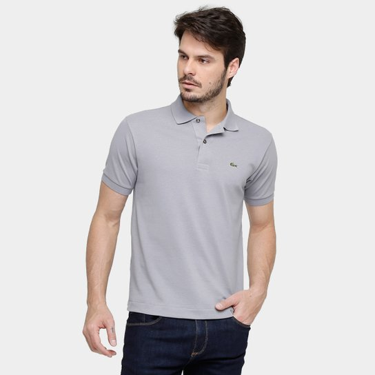 cefa4dd75df Camisa Polo Lacoste Original Fit Masculina - Cinza - Compre Agora ...
