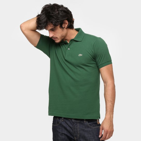 7fb6398bbee Camisa Polo Lacoste Original Fit Masculina - Verde Militar - Compre ...
