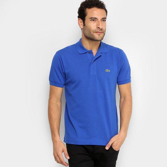 Camisa Polo Lacoste Piquet Original Masculina - Azul Royal - Compre ... 238e500b25