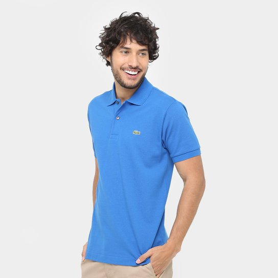 Camisa Polo Lacoste Piquet Original Fit Masculina - Azul Royal ... a65d326c38