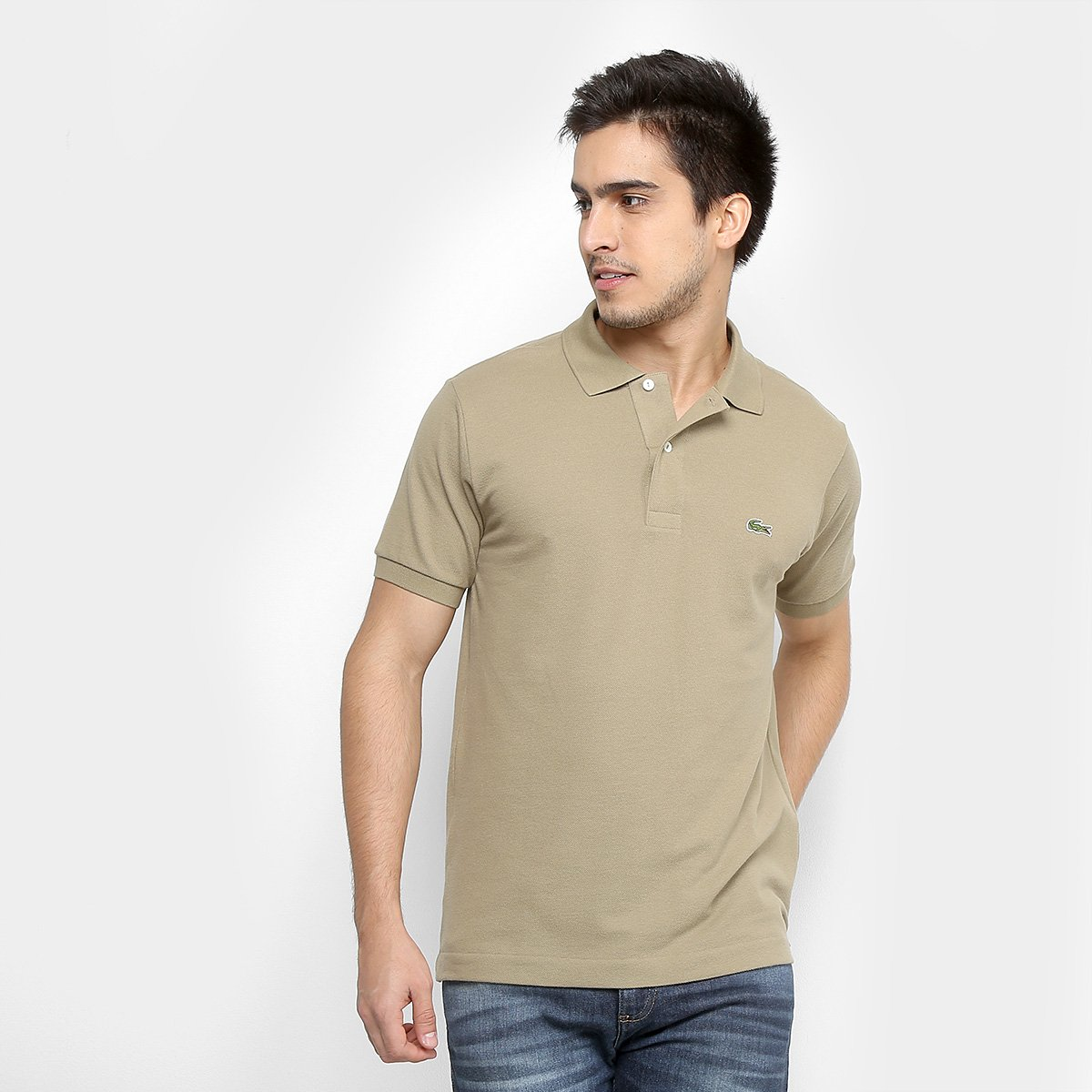fe33453ef4134 Camisa Polo Lacoste Piquet Original Fit Masculina