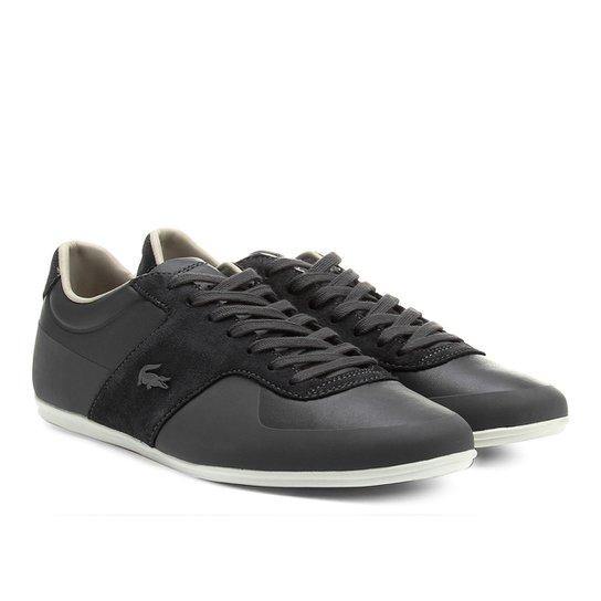 fa8b876bf7 Sapatênis Couro Lacoste Sportswear III Masculino - Cinza